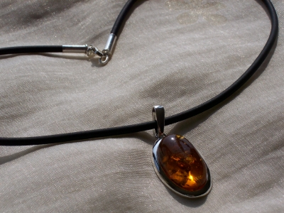 Amber Silver Chain for pendants CHRB01